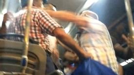 Edirne'de minibüste maske kavgası! Yumruklar konuştu