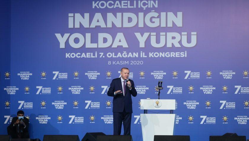 Cumhurbaşkanı Erdoğan, AK Parti Kocaeli 7. Olağan İl Kongresi'nde konuştu: