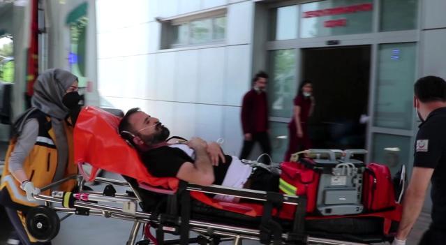Karnından vurulan şahıs hastaneye kaldırıldı